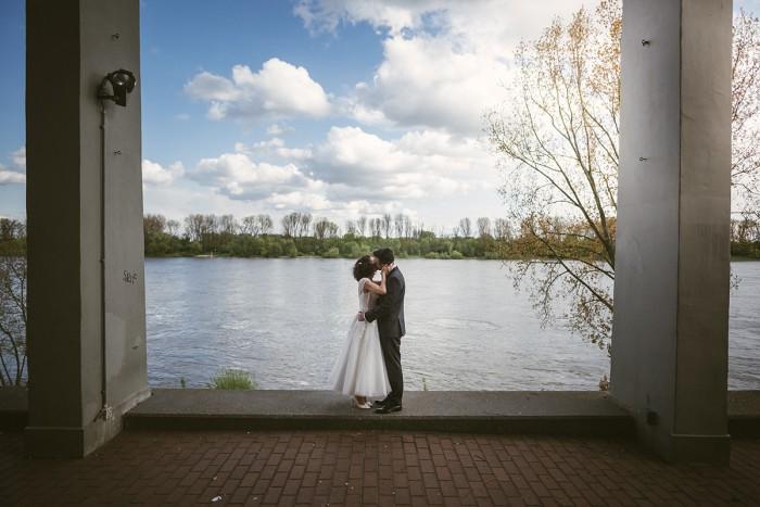 Hochzeitsfotografie am Rheinufer in Köln – Steffi&Reinhard